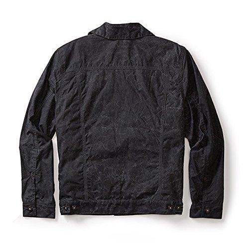 Filson Mens Short Lined Cruiser Jacket (Medium, Black/Dark Green) 10687