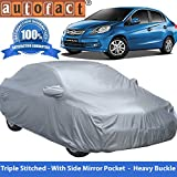 Autofact Premium Silver Matty Triple Stitched Car Body Cover with Mirror Pocket for Honda Amaze