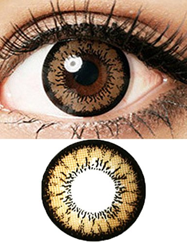 Oliote Women Multi-Color Contact Lenses Cosplay Eyes Cute Colored Charm and Attractive Cosmetic Makeup Eye Shadow 1 pc