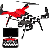 MightySkins Protective Vinyl Skin Decal for 3DR Solo Drone Quadcopter wrap cover sticker skins Red Chevron