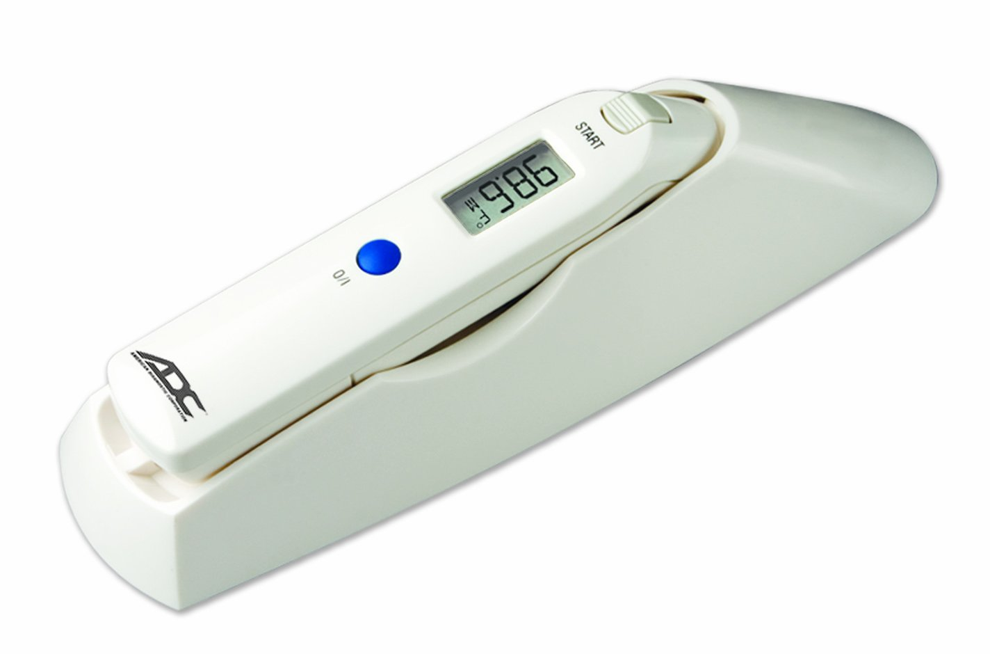 ADC Infrared Tympanic Ear Thermometer, Instant Read, with Storage Caddy, Adtemp 424