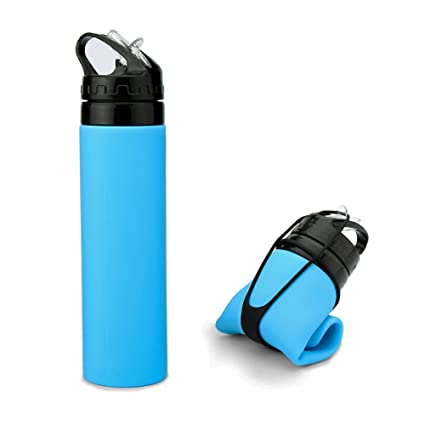 ARCHEER Collapsible Water Bottle Foldable Silicone Bottle FDA-approved  Sports Canteen Roll Up Cup for d5d99d4420