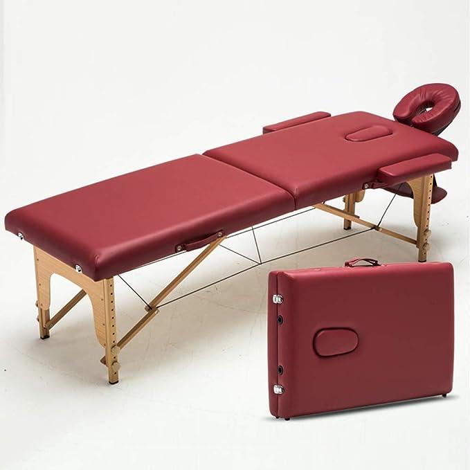 Amazon.com: LJHA Cama de masaje plegable, cama de salón de ...