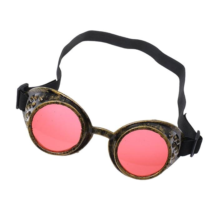 Steampunk Gafas Gafas De Soldadura Cosplay Gótica De Plata Antigua Del Traje - Amarillo, /: Amazon.es: Ropa y accesorios