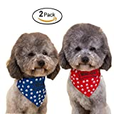 WiseGoods Adjustable Cute Pet Bandanas Scarf Collar With Buckle for Dog Cat Pack of 2 M