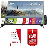 LG 55UJ7700 - 55-inch Super UHD 4K HDR Smart LED TV (2017 Model) w/ 6 Months of Netflix + 1 Year Extended Warranty