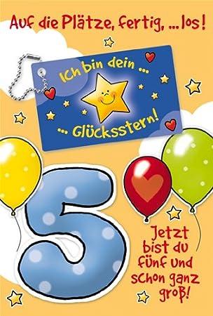 Gluckwunsche Zum 5 Geburtstag Luckystar Restbestand Amazon De