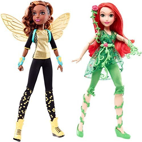 """DC Super Hero Girls Bumble Bee 12"""" Action Doll and Poison Ivy 12"""" Action Doll Bundle"""