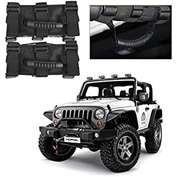 2pcs Red Unlimited Roll Bar Grab Handles Grip Holder fits Jeep Wrangler JK TJ CJ