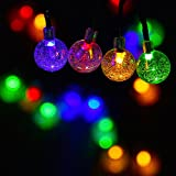 Ecolinear Solar String Lights 30 LEDs Outdoor Solar Powered LED String Lights Waterproof Copper Wire Lights for Christmas Garden (Four Colors)