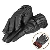 Smart Texting Gloves   Comfortable Stylish Elegant Texting Gloves for Universal Gadget Touchscreen Smartphone Samsung   Windproof Warm PU Leather Winter Driving Mittens   Black   168