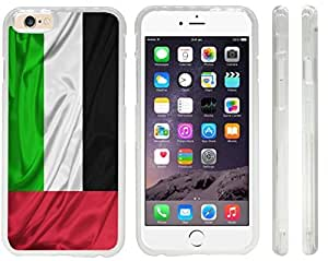 Rikki KnightTM United Arab Emirates Flag Design iPhone 6 Case Cover (Clear Rubber with front bumper protection) for Apple iPhone 6