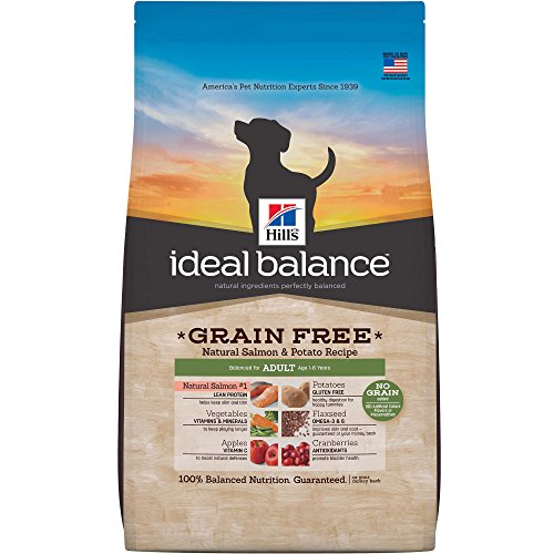 Hill'S Ideal Balance Adult Grain Free Natural Salmon & Potato Recipe Dry Dog Food, 21 Lb Bag