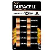 Duracell Coppertop D Batteries - 10 Count