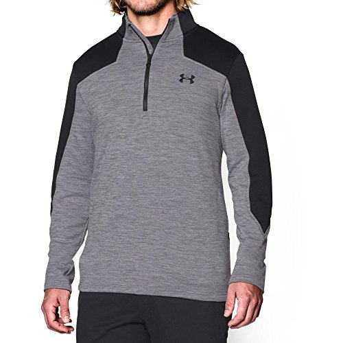 Under Armour Mens Gamut 1 4 Zip  True Gray Heather Black  Xx Large