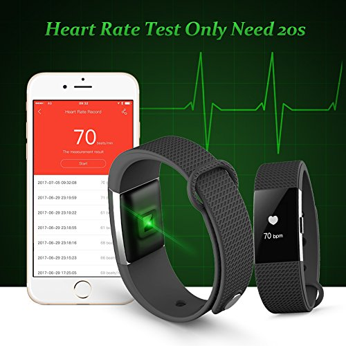 Fitness Tracker Heart Rate Monitor Touch Screen Activity Pedometer with Waterproof Smart Wristband and Sleep Monitor Smart Bracelet for Andorid and IOS, Lenkewi F2