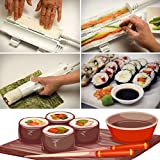 Sushi Roll Making Kit - Homemade Sushi Rolls Made Easy by Sushi Roller Kit, Best Sushi Maker Machine Set, Plastic Sushi Bazooka