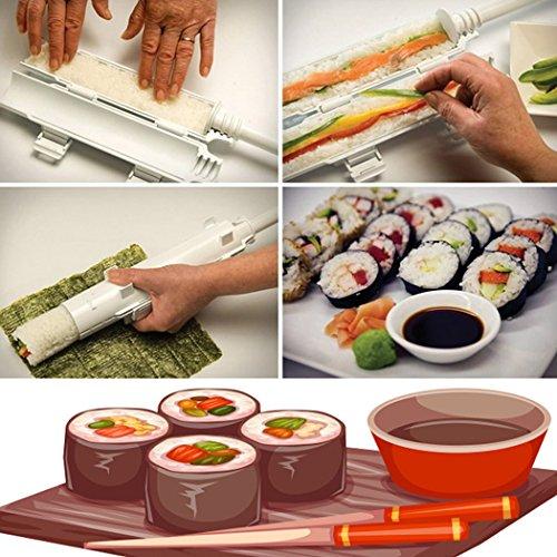 Sushi Roll Making Kit - Homemade Sushi Rolls Made Easy by Sushi Roller Kit, Best Sushi Maker Machine Set, Plastic Sushi Bazooka