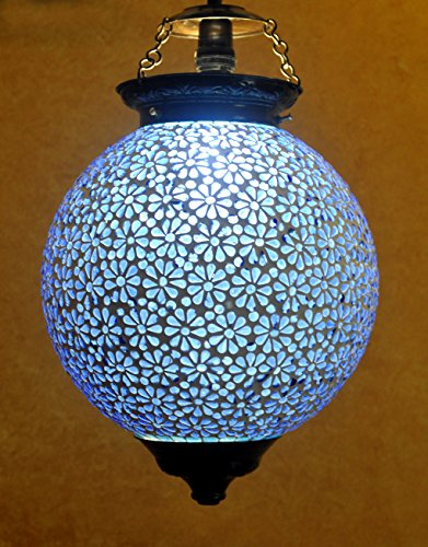 Vintage Handmade Glass Decorative Bedroom Hanging Lights Ceiling Lamp Shade