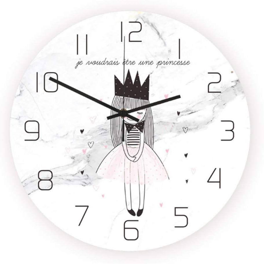 XUZHUO Crown Princess Quartz Reloj de Pared Modern Fantasy Abstract Niños Reloj de Pared Habitación