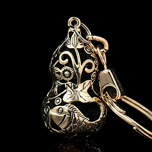 Wall of Dragon Hollow Gourd Keychain Men's Car Key Chain Rings Pendant Gift for Peugeot Renault Citroen Volvo Saab Seat Skoda Bentley Lotus