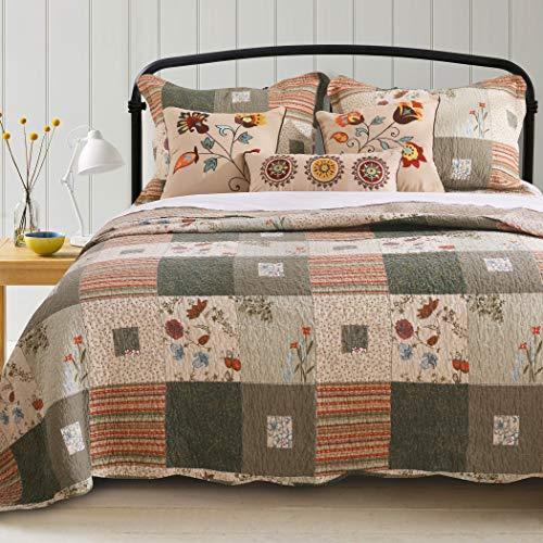 - Greenland Home Sedona Quilt Set, 5-Piece King/Cal King, Gray