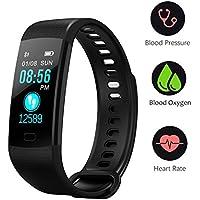 BONNIEWAN Fitness tracker heart rate color screen...
