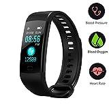 BONNIEWAN Fitness tracker heart rate color screen activity tracker blood pressure monitor, IP67 waterproof sleep monitor, calorie counter pedometer 4 sport mode Kids Women Men