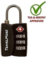TSA Luggage Locks With Search Alert - Travel Combination Lock (1, 2 & 4 Pack)