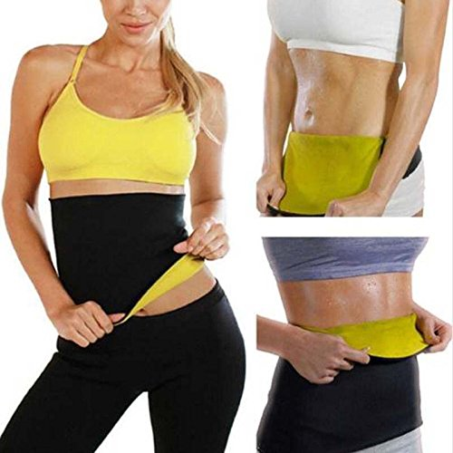 Workout Belt Waist Trainer - Fitness & body building Yoga shapers Sport Waist Support Slimming Shaping Self-heating Girls Slimming pants body shaper - Sweat Belt (XXL)