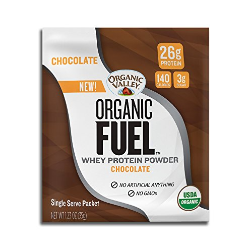 Cheap Organic Valley, Organic Fuel Whey Protein Powder Single-serve Packets, Chocolate, 1.23oz, 12 ct