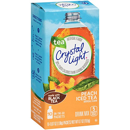 Crystal Light On the Go, Peach, 10 Count 0.7 Ounce, (Pack of 12) by Crystal Light