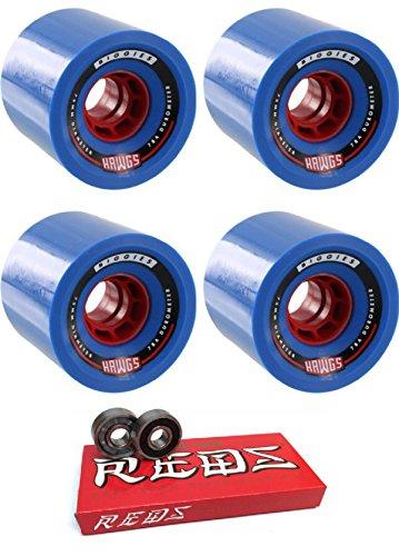 民族主義あえぎアルコールHawgsホイール73 mm bigger Biggie Longboard Skateboard Wheels with Bones Bearings – 8 mmスケートボードベアリングBones Super Redsスケート定格 – 2アイテムのバンドル