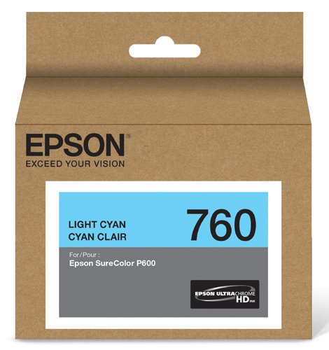 Epson T760520 UltraChrome HD Light Cyan Standard Capacity Cartridge Ink