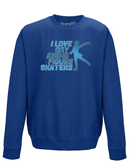I Love Gay Anime Figure Skaters, Sudadera adultos - Azul 2XL=132cm: Amazon.es: Ropa y accesorios