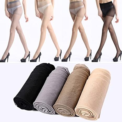 f93cfd1b9dd Amazon.com  Happyear Women s Silk Sheer Pantyhose
