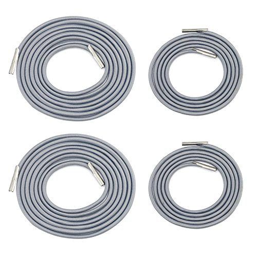 GiBot Recliner Replacement Cords for Zero Gravity Style Chair Elastic Repair Cables,4 Pack,Grey