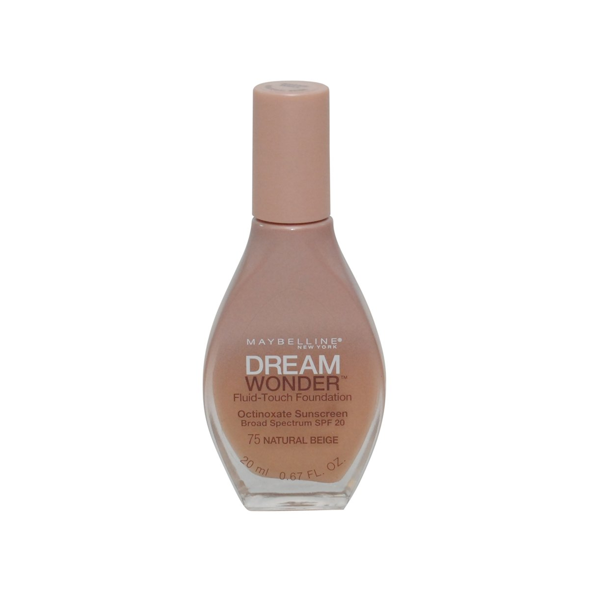 2 Pack- Maybelline Dream Wonder Fluid-Touch Foundation #75 Natural Beige free shipping