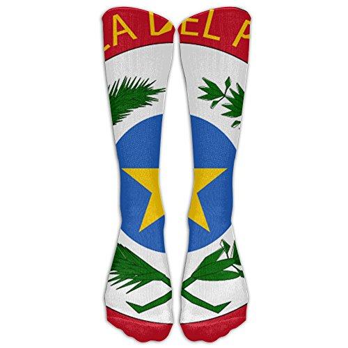 Paraguay National Emblem Compression Socks Soccer Socks High Socks Long Socks For Running,Medical,Athletic,Edema,Diabetic,Varicose Veins,Travel,Pregnancy,Shin Splints,Nursing. (Paraguay National Soccer Team)