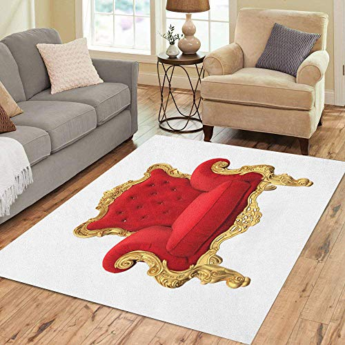 Pinbeam Area Rug Red Royal Throne Chair 3D Rendering for sale  Delivered anywhere in USA