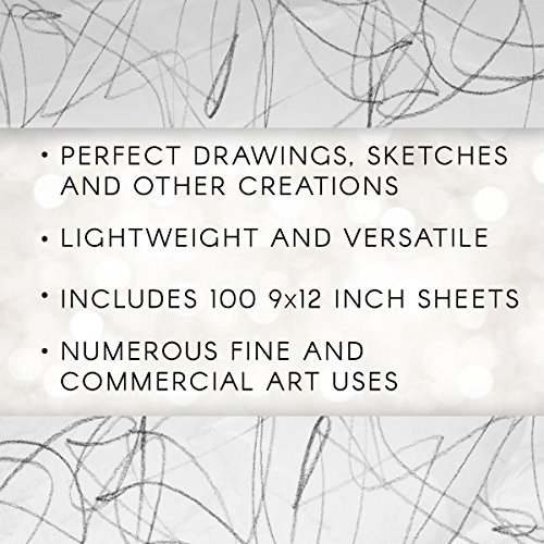 "Large Product Image of Darice 9""x12"" Artist's Tracing Paper, 100 Sheets – Translucent Tracing Paper for Pencil, Marker and Ink, Lightweight, Medium Surface"