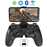 KYAMRC 2.4G Wireless Game Controller Bluetooth Gaming Gamepad Joystick for Android Phone/ PC Windows/ Tablet/ Smart TV/ TV Box/ PS3 - Android