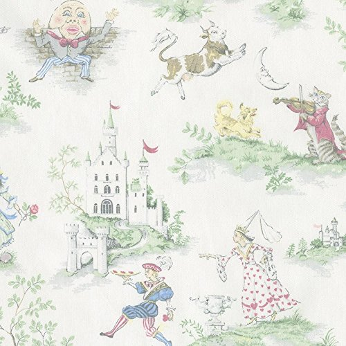 Carousel Designs Nursery Rhyme Toile Fabric by the (Nursery Rhyme Fabric)