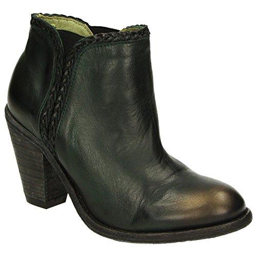 Maruti Faicchio 66.1015.01 Damen Leder Pumps Stiefelette Schuhe Dunkelgrün Dark Green