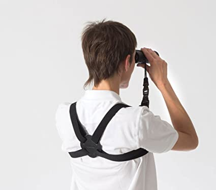Opticron 25mm Bungee Elastic and Leather Binocular Harness with Quick Release System