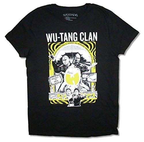 Wu Tang Kung-Fu Black T Shirt Rap Hip Hop Killa Bees (XL)