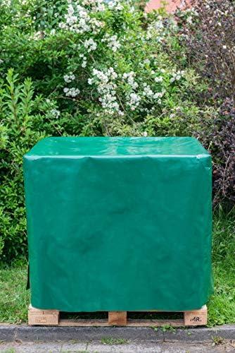 Tegenstex IBC Container, Wassertank Abdeckplane - 1000 L - IBC-Tank Behälter Container UV-Folie Schutzhülle Schutzplane Schutzhaube Cover, Made IN Germany (120x100x105cm, Gelb)
