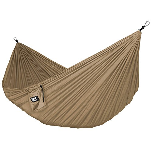 Neolite Single Camping Hammock – Lightweight Portable Nylon Parachute Hammock for Backpacking, Travel, Beach, Yard. Hammock Straps & Steel Carabiners Included