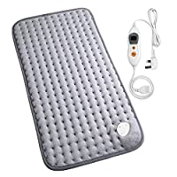 MARNUR Electric HeatingPad withAutoShutOffand6Levels TemperatureSettingsfor Back Neck Abdomen Legs Feet Warming SoftPlush Blanket Comfort and Cosy MusclePain and Stress Relieving -12*24in