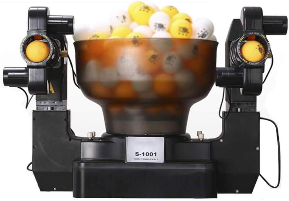 lcc Tenis Robot Principal Doble automático de Disparo Mesa de Ping Pong Servir Máquina práctica para Principiantes Adecuado para más de 40 Bolas